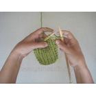 Punctul de elastic tricotat drept
